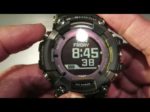 G-SHOCK RANGEMAN Solar- Assisted GPS Navigation 2018 Basic Operation