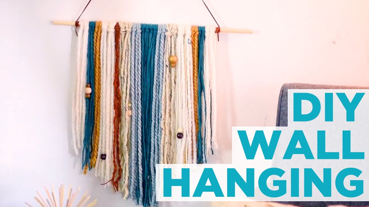 DIY Yarn Wall Hanging - HGTV - YouTube