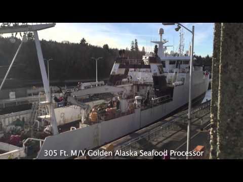 Big Ship at the Ballard Locks