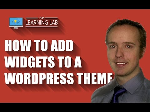 How to Add Widgets to a WordPress Theme - WP Learning Lab - 동영상