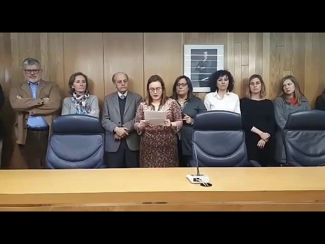 Jueces y fiscales se concentran en los juzgados de Lugo