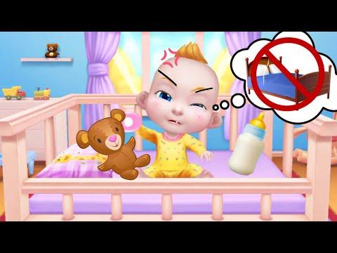 Играем в игру мультик для девочек: малыш не хочет спать, плачет/Как уложить спать Артема?/Зырики ТВ