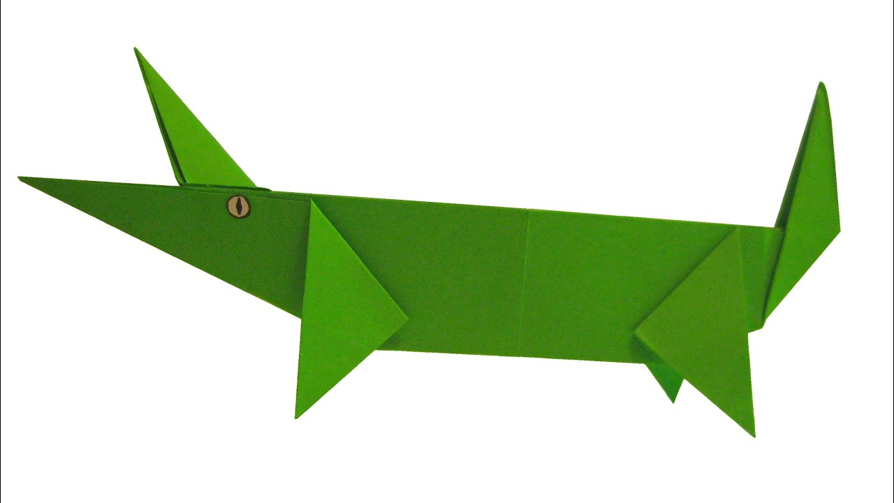 crocodile origami tutorial