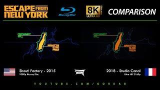 Blu-ray Versus - Escape From New York (2015 vs 2018) 8K ULTRA HD Comparison