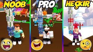 NOOB PRO HACKER 1 OYUN 3 HESAP / Present Wrapping Simulator / Roblox Türkçe