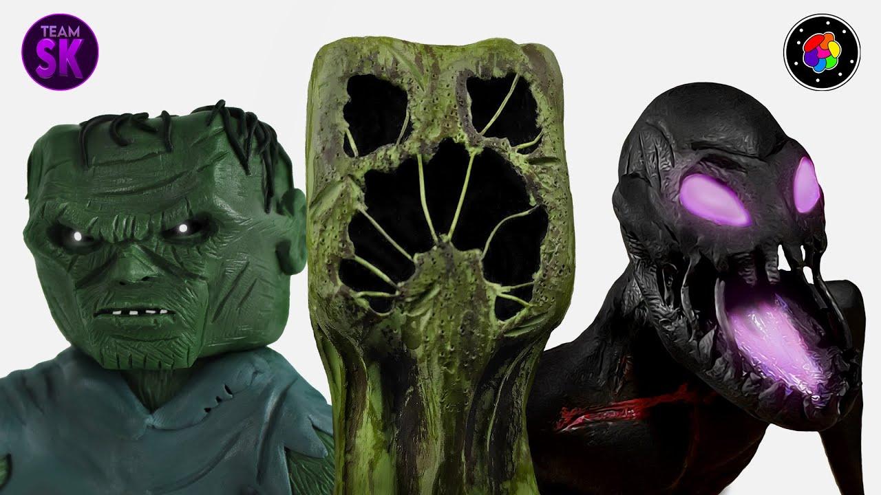 ESCULPIENDO MOBS REALISTAS de MINECRAFT (Creeper, Zombi y Enderman) | TEAM SCULKER | PlastiVerse