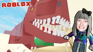 Roblox: DINO DESTROYED SCHOOL - Nina is happy about school-free | ESCAPE SCHOOL DINOSAUR OBBY