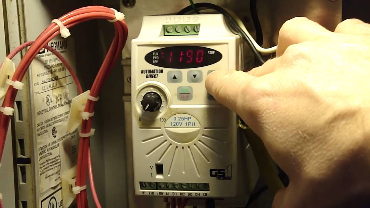 Vfd Forward And Reverse Switch Youtube Powerflex 4 Wiring Diagram