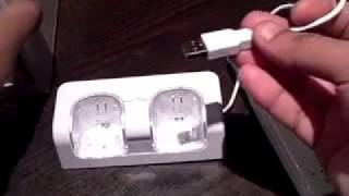 Twin Remote Charging Docking Station for Nintendo Wii