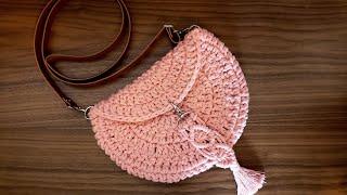 Passo a Passo de Como Fazer Bolsa de Crochê