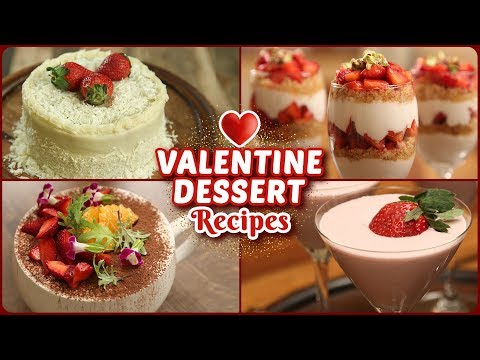 5 BEST Valentine's Day Special Recipes - Easy Eggless Dessert Recipes - Valentine's Day Treats