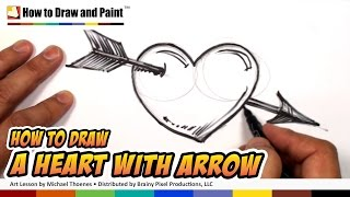 How to Draw a Heart with Arrow - Heart Drawing Lesson - MAT