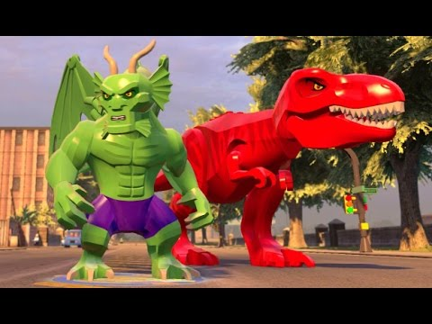 LEGO Marvel's Avengers - All Big-fig Characters Free Roam Gameplay