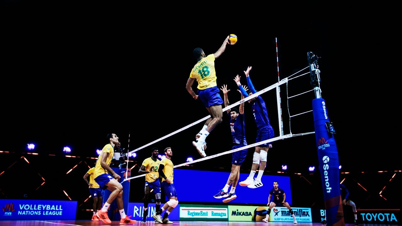 Download Epic Plays by Men's Team Brazil | VNL Champions of 2021 | HD
