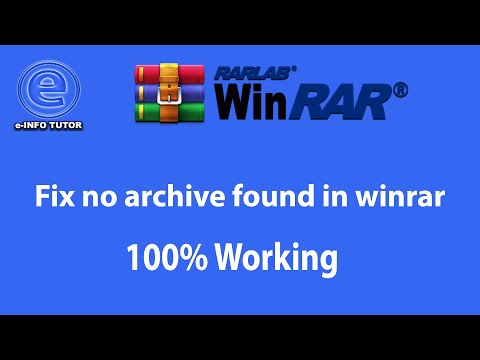 How to Fix no archive found in winrar