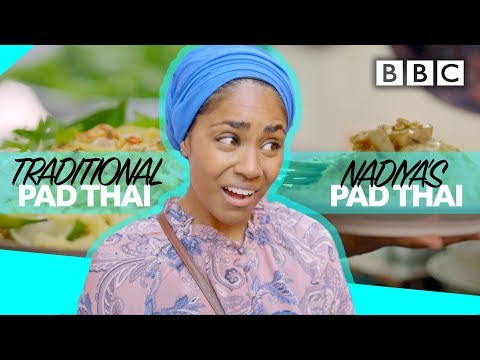 Nadiya's Pad Thai cook-off versus traditional pad thai! - BBC