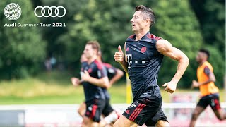 First Team Training by Lewandowski, Goretzka & Co.