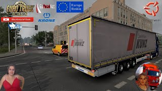 "Euro Truck Simulator 2 (1.38)   EuRoadNet map v1.0 First Look and Delivery to Forst(Lausitz) Germany Ford F-Max v2.0 by SimulasyonTurk Krone Profiliner Trailer by TZ Express Animated gates in companies v3.7 [Schumi] Real Company Logo v1.0 [Schumi] Company addon v1.8 [Schumi] Trailers and Cargo Pack by Jazzycat Motorcycle Traffic Pack by Jazzycat FMOD ON and Open Windows Naturalux Graphics and Weather Spring Graphics/Weather v3.6 (1.38) by Grimes Test Gameplay ITA Europe Reskin v1.0 + DLC's & Mods EuRoadNet v1.0 containing lots of new areas and improvements in Germany, Poland, France, Belgium, Denmark, Slovakia and other countries! https://euroadnet.com/ https://forum.scssoft.com/viewtopic.php?f=32&t=281488  SCS Software News Iberian Peninsula Spain and Portugal Map DLC Planner...2020 https://www.youtube.com/watch?v=NtKeP0c8W5s Euro Truck Simulator 2 Iveco S-Way 2020 https://www.youtube.com/watch?v=980Xdbz-cms&t=56s Euro Truck Simulator 2 MAN TGX 2020 v0.5 by HBB Store https://www.youtube.com/watch?v=HTd79w_JN4E  #TruckAtHome #covid19italia Euro Truck Simulator 2    Road to the Black Sea (DLC)    Beyond the Baltic Sea (DLC)   Vive la France (DLC)    Scandinavia (DLC)    Bella Italia (DLC)   Special Transport (DLC)   Cargo Bundle (DLC)   Vive la France (DLC)    Bella Italia (DLC)    Baltic Sea (DLC) Iberia (DLC)   American Truck Simulator New Mexico (DLC) Oregon (DLC) Washington (DLC) Utah (DLC) Idaho (DLC) Colorado (DLC)     I love you my friends Sexy truck driver test and gameplay ITA  Support me please thanks Support me economically at the mail vanelli.isabella@gmail.com  Roadhunter Trailers Heavy Cargo  http://roadhunter-z3d.de.tl/ SCS Software Merchandise E-Shop https://eshop.scssoft.com/  Euro Truck Simulator 2 http://store.steampowered.com/app/227... SCS software blog  http://blog.scssoft.com/  Specifiche hardware del mio PC: Intel I5 6600k 3,5ghz Dissipatore Cooler Master RR-TX3E  32GB DDR4 Memoria Kingston hyperX Fury MSI GeForce GTX 1660 ARMOR OC 6GB GDDR5 Asus Maximus VIII Ranger Gaming Cooler master Gx750 SanDisk SSD PLUS 240GB  HDD WD Blue 3.5"" 64mb SATA III 1TB Corsair Mid Tower Atx Carbide Spec-03 Xbox 360 Controller Windows 10 pro 64bit"