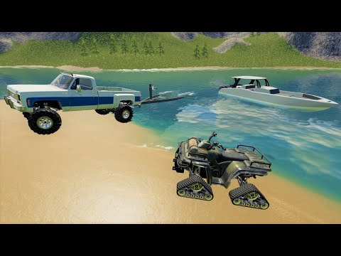 Camping and boating on a secret lake in the mountains | Farming Simulator 19