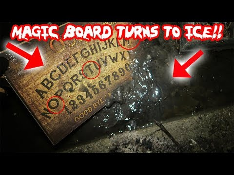 HAUNTED OUIJA BOARD TURNS TO ICE CAUGHT ON CAMERA! OUIJA BOARD CHALLENGE IN TOMS HAUNTED HOUSE!