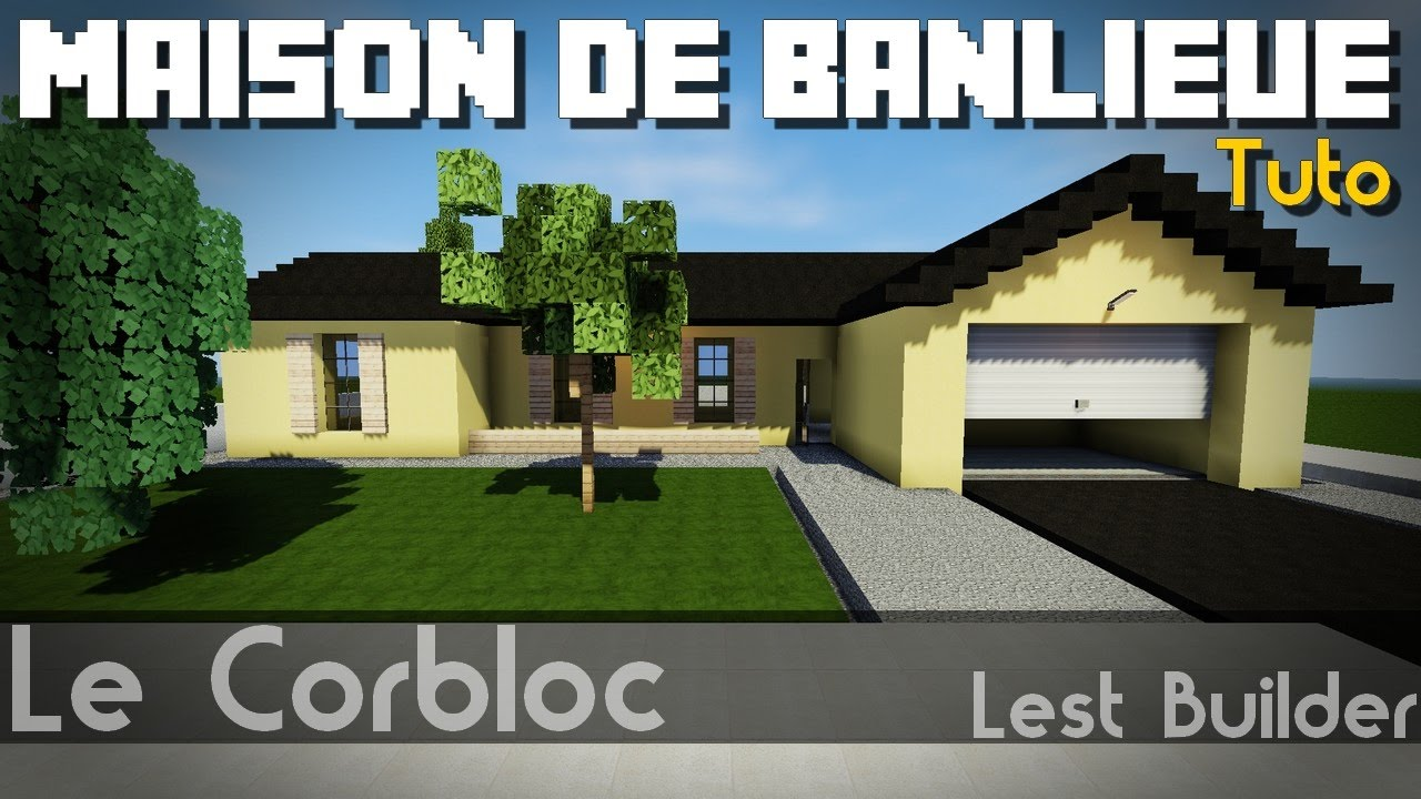 minecraft tuto maison de banlieue am ricaine youtube. Black Bedroom Furniture Sets. Home Design Ideas