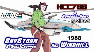 HCC788 - 1988 WINDMILL and SKYSTORM X-Wing Chopper - Vintage G.I. Joe toy review!