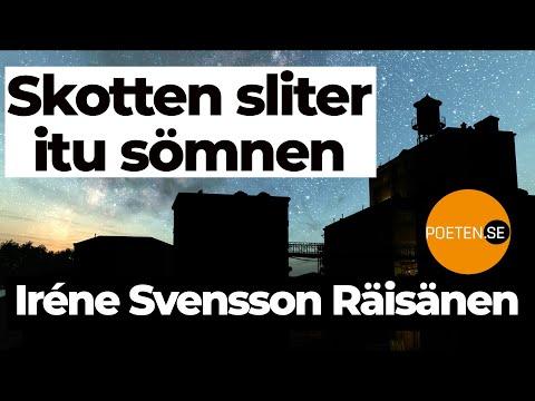 SKOTTEN SLITER ITU DRÖMMEN diktvideo av poeten Iréne Svensson Räisänen