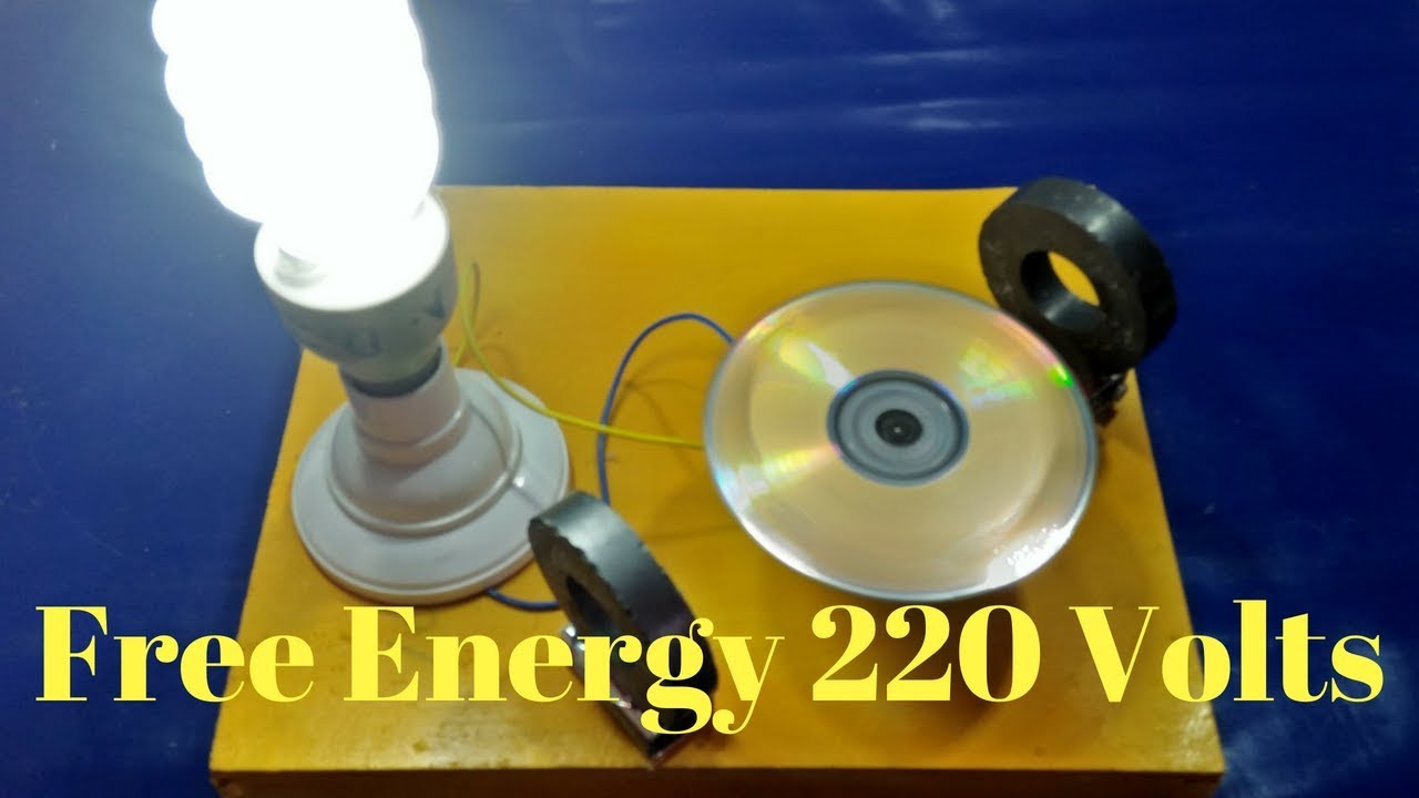 Make Free Energy Generator With Magnet Output 220 Volts Light Bulb Youtube