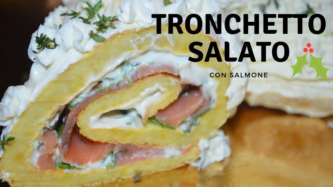 Tronco Di Natale Youtube.Antipasti Di Natale Tronchetto Salato Con Salmone
