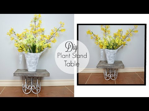 DIY Dollar Tree Farmhouse Plant Stand/Table | Indoor/Outdoor Garden Decor