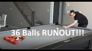 OVERSIZED 8 Ball rack - 36 balls runout!!!