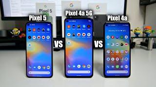 Pixel 5 vs Pixel 4a (5G) vs Pixel 4a - Speed Test Comparison