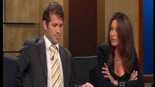 AFL Footy Show Mark McVeigh and Fiance 10-9-2009