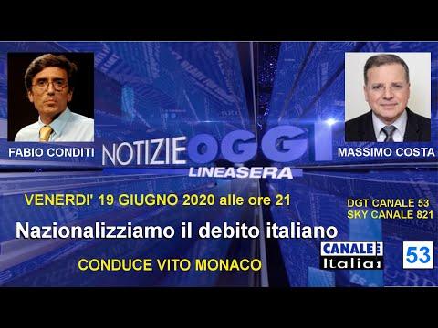 Fabio Conditi e Massimo Costa - Notizie Oggi Linea Sera - 19 giungo 2020