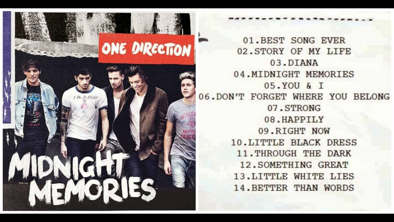 direction midnight memories track listing official youtube