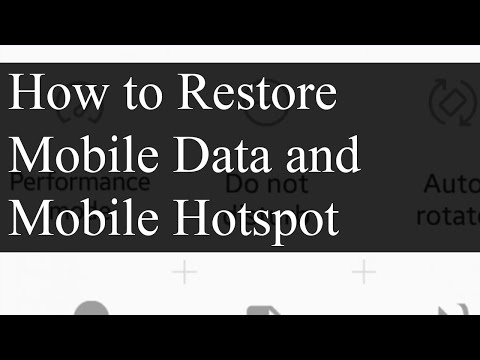 Adding Mobile Data and Mobile Hotspot to Quick Settings | Sanuja