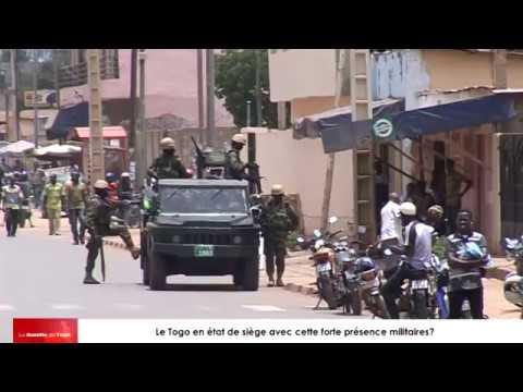 Le Togo est-il en état de siège pour que ces rues soient bondées de militaires armes aux poings ?