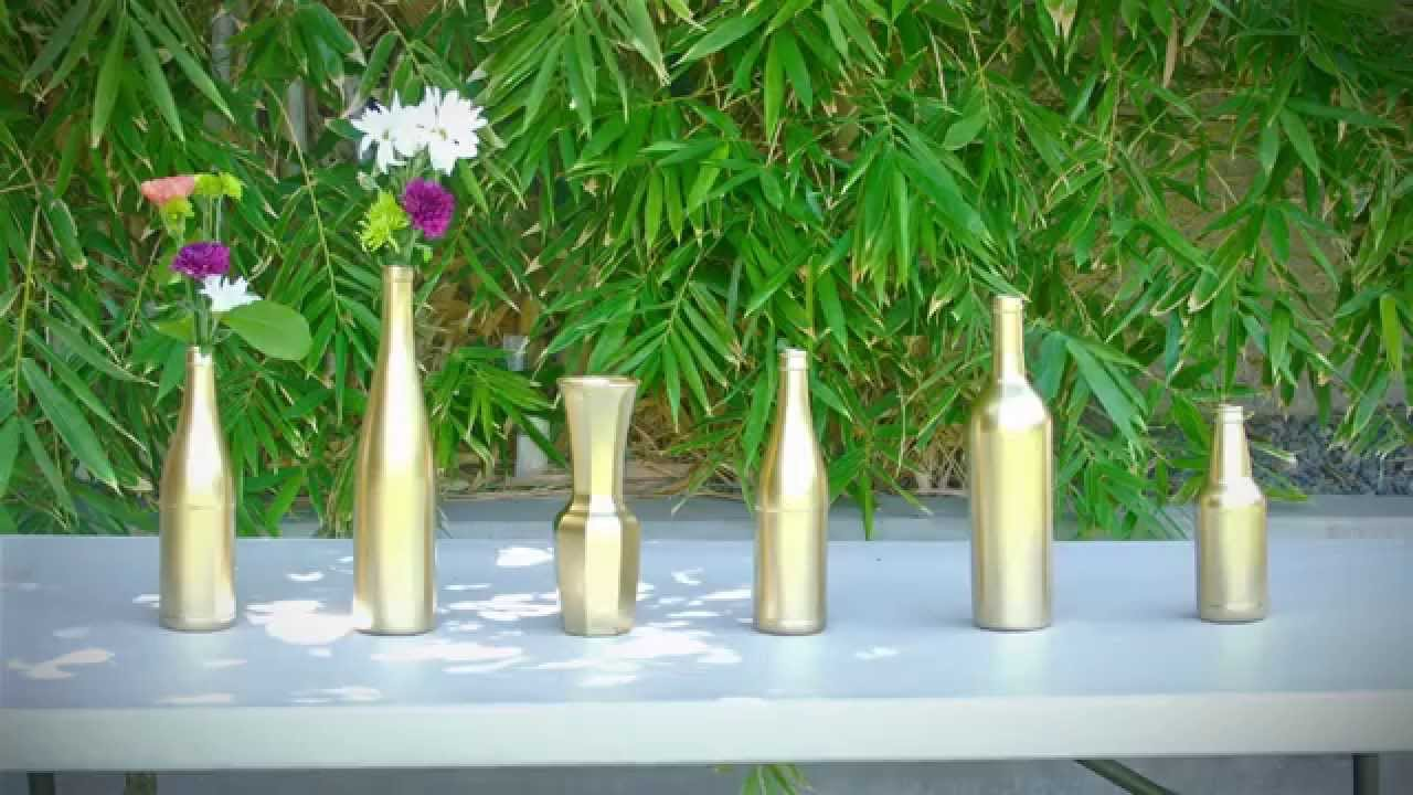 K couture diy wedding spray painted vases youtube k couture diy wedding spray painted vases reviewsmspy