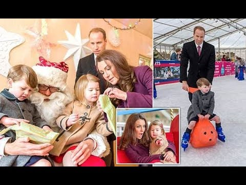 Kate Middleton and William take George and Charlotte ice skatin?