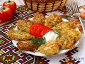 Кабачковые оладьи с картофелем и сыром сулугуни
