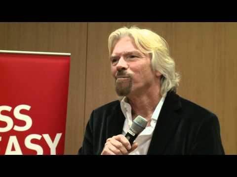 Richard Branson uses Shakespeak technology at the Big Improvement Day in Amsterdam
