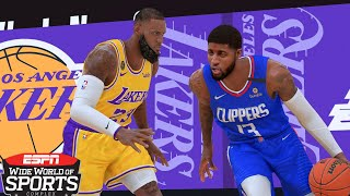 NBA 2K21 Ultra Modded Orlando Bubble Playoffs | Lakers vs. Clippers: Game 1 | PC Overhaul