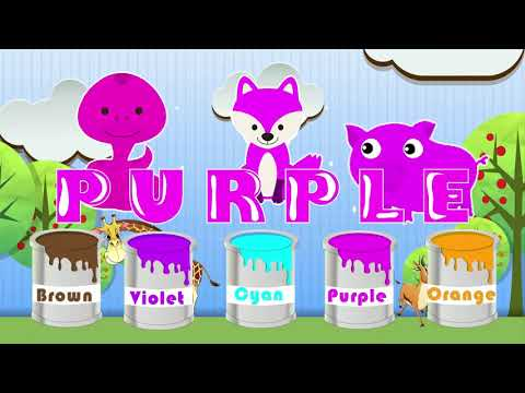 Paint animals with us animals and learn the names of colors JustBaby