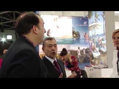 Rivero inaugura el stand de Canarias en la feria turística MITT de Moscú