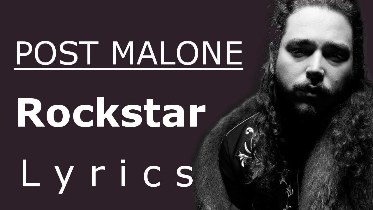 rockstar lyrics lyric video post malone feat 21 savage youtube. Black Bedroom Furniture Sets. Home Design Ideas