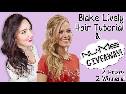 Blake Lively Hair Tutorial Nume Giveaway Blow Drying Curly Hair Tips