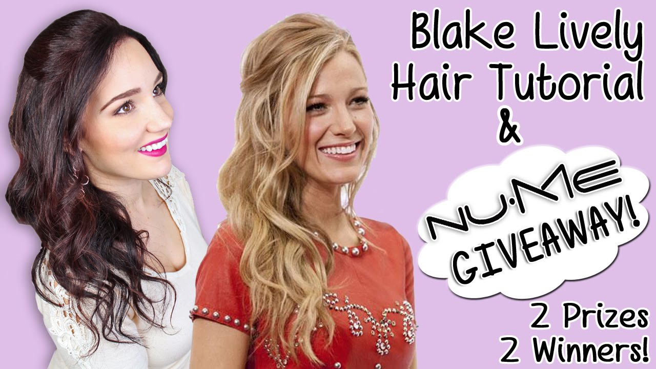 Blake Lively Hair Tutorial Nume Giveaway Blow Drying Curly Hair