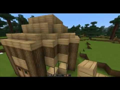 Minecraft Timelapse Petite Maison En Bois Bien Sympatique Youtube