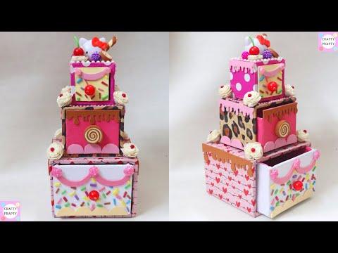 DIY Hello kitty  Cake Box Desk Organizer/ Cajas organizadoras de Hello kitty/ Cardboard cake Box