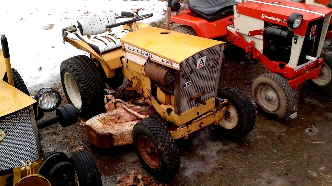 simplicity and allis chalmers lawn and garden trac - YouTube